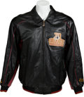 Football Collectibles:Others, 2002 70 Greatest Redskins Presentational Leather Jacket - Paul Krause Collection....