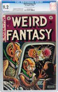 Golden Age (1938-1955):Science Fiction, Weird Fantasy #16 With Original EC Mailing Envelope (EC, 1952) CGCNM- 9.2 Off-white to white pages....