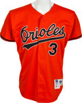 Baseball Collectibles:Uniforms, 1992 Billy Ripken Game Worn Baltimore Orioles Jersey. ...