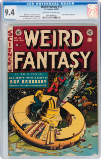 Weird Fantasy #18 With EC Mailing Envelope (EC, 1953) CGC NM 9.4 Off-white to white pages