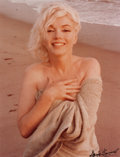 Photographs, GEORGE BARRIS (American, b. 1928). Marilyn Monroe, Hand on Chest, 1962. Chromogenic, printed 1987. 13-1/2 x 10-1/2 inche...