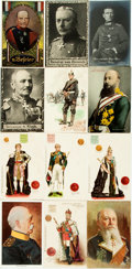 Miscellaneous:Postcards, [Postcards]. Group of Thirty-one Postcards Depicting GermanMilitary Figures and British Royalty. Various publishers, [n...