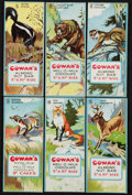 "Non-Sport Cards:Sets, 1920's V2 Cowan's Chocolates ""Animals"" Complete Set (24). ..."