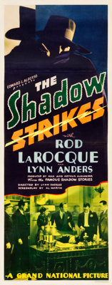 "The Shadow Strikes (Grand National, 1937). Insert (14"" X 36"")"