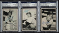 Autographs:Sports Cards, Signed 1953 Bowman Black & White Baseball Card PSA/DNAAuthentic Trio (3). ...