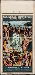 "Movie Posters:Adventure, Mutiny on the Bounty (MGM, 1962). Italian Locandina (13"" X 28"").Adventure.. ..."