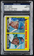 Autographs:Sports Cards, Signed 1967 Topps Rod Carew Rookie #569 PSA Mint 9....