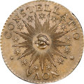 Colonials, 1783 COPPER Nova Constellatio Copper, Pointed Rays, Small US MS66 Brown NGC. CAC. Crosby 2-B, W-1865, R.2. ...