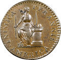 Colonials, 1785 Cent Inimica Tyrannis America / Confederatio, Large Circle Cent Original MS63 Brown NGC. Breen-1123, Whitman-5630, High ...