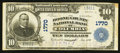 National Bank Notes:Missouri, Columbia, MO - $10 1902 Plain Back Fr. 627 The Boone County NB Ch.# 1770. ...