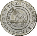 1776 $1 Continental Dollar, CURRENCEY, Pewter MS63 NGC. CAC. Plain Edge. Newman 4-D, Breen-1097, W-8475, High R.7. ...(P...