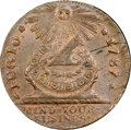 "Colonials, 1787 1C Fugio Copper ""Cent,"" UNITED STATES, Pointed Rays, Four Cinquefoils MS64 Red and Brown NGC. CAC. Newman 8-B, W-6740, R..."