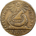 """Colonials, 1787 1C Fugio Copper """"Cent,"""" STATES UNITED, Eight Pointed Star XF40 NGC. CAC. Newman 15-Y, W-6915, R.2. ..."""