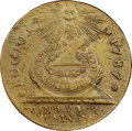 "Colonials, 1787 1C Fugio Copper ""Cent,"" STATES UNITED, Eight Pointed Star AU58 NGC. CAC. Newman 15-Y, W-6915, R.2. ..."