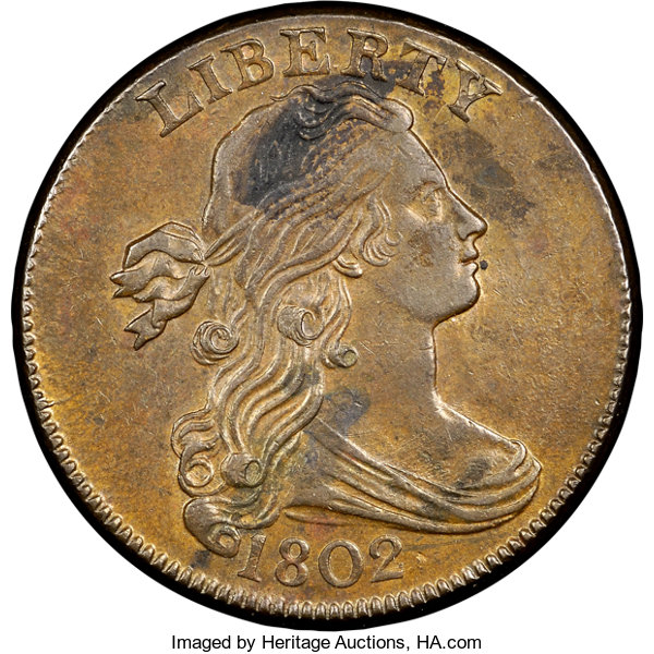 1802 1C 1/000, S-228, B-4, R 2, MS60 Brown NGC  Our EAC
