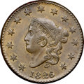 Large Cents, 1826/5 1C N-8, R.2, MS64 Brown NGC. CAC. Our EAC Grade AU55....
