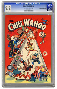 Big Chief Wahoo #3 Mile High pedigree (Eastern Color, 1942) CGC NM- 9.2 Off-white to white pages. Here's the highest-gra...