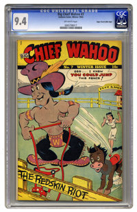 Big Chief Wahoo #7 Mile High pedigree (Eastern Color, 1943) CGC NM 9.4 Off-white pages. Granted, the character of Big Ch...