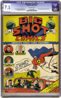 Big Shot Comics #1 (Columbia, 1940) CGC VF- 7.5 Off-white pages. The first comic book published by Columbia, this series...