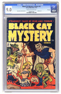 Golden Age (1938-1955):Horror, Black Cat Mystery #32 File Copy (Harvey, 1951) CGC VF/NM 9.0 Creamto off-white pages. Bondage cover. Rudy Palais and Bob Po...