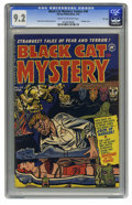 Golden Age (1938-1955):Horror, Black Cat Mystery #34 File Copy (Harvey, 1952) CGC NM- 9.2 Cream tooff-white pages. A bondage cover by Al Avison is just th...