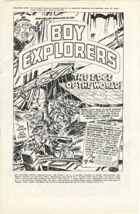 Boy Explorers Comics #2 File Copy (Harvey, 1946) Condition: VF/NM. A Harvey file copy is a nice acquisition in any case...