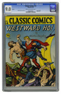 Golden Age (1938-1955):Classics Illustrated, Classic Comics #14 Westward Ho! - Original Edition (Gilberton,1943) CGC VF/NM 9.0 Cream to off-white pages. This version of...