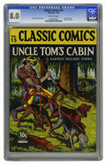 Golden Age (1938-1955):Classics Illustrated, Classic Comics #15 Uncle Tom's Cabin - Original Edition (Gilberton,1943) CGC VF 8.0 Off-white pages. Harriet Beecher Stowe'...
