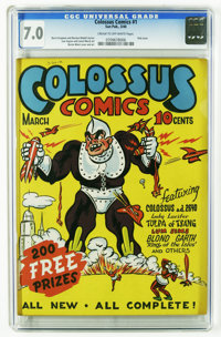 Colossus Comics #1 (Sun Publications, 1940) CGC FN/VF 7.0 Cream to off-white pages. We stop at nothing to bring you coll...