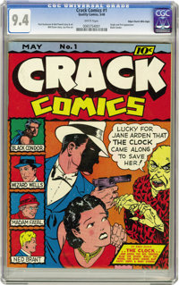Crack Comics #1 Mile High pedigree (Quality, 1941) CGC NM 9.4 White pages. The issue features the origin and first appea...