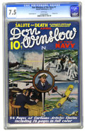 Platinum Age (1897-1937):Miscellaneous, Don Winslow of the Navy #1 (Merwil Publishing, 1937) CGC VF- 7.5White pages. Hold everything! When we heard that a Don Wi...