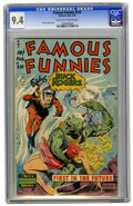 Golden Age (1938-1955):Science Fiction, Famous Funnies #210 (Eastern Color, 1954) CGC NM- 9.2 Cream pages.The sight of a Frank Frazetta cover can transform even th...