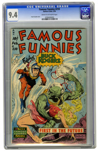 Famous Funnies #210 (Eastern Color, 1954) CGC NM 9.4 Cream to off-white pages. Frank Frazetta's cover for this issue is...