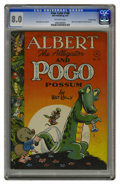 Golden Age (1938-1955):Funny Animal, Four Color #148 Albert the Alligator and Pogo Possum - Crowley Copypedigree (Dell, 1947) CGC VF 8.0 Off-white pages. This i...