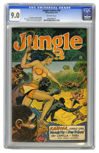Jungle Comics #92 (Fiction House, 1947) CGC VF/NM 9.0 Off-white pages. Artists include Matt Baker. Overstreet 2006 VF/NM...