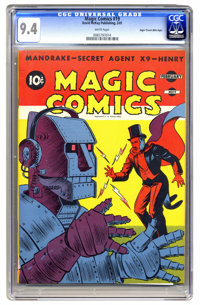 Magic Comics #19 Mile High pedigree (David McKay Publications, 1941) CGC NM 9.4 White pages. This is the only copy of th...