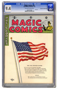 Magic Comics #36 Mile High pedigree (David McKay Publications, 1942) CGC NM 9.4 Off-white to white pages. The simple not...