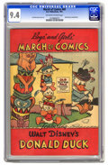 Golden Age (1938-1955):Funny Animal, March of Comics #69 Donald Duck (K. K. Publications, Inc., 1951)CGC NM 9.4 Off-white to white pages. Carl Barks art on back...