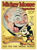 Platinum Age (1897-1937):Miscellaneous, Mickey Mouse Magazine V2#1 (K. K. Publications, Inc., 1936)Condition: VG/FN. The world wishes Mickey Mouse a happy eighth b...