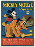 Platinum Age (1897-1937):Miscellaneous, Mickey Mouse Magazine V2#8 (K. K. Publications, Inc., 1937)Condition: FN-. Solid copy, with still-supple cream to off-white...