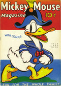 Golden Age (1938-1955):Cartoon Character, Mickey Mouse Magazine V2#10 (K. K. Publications, Inc., 1937)Condition: VF/NM. This issue marks a transition to color, with ...