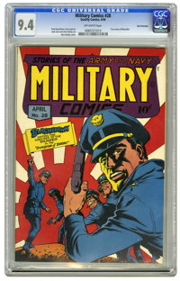 Military Comics #28 San Francisco pedigree (Quality, 1944) CGC NM 9.4 Off-white pages. From the pedigree that many feel...