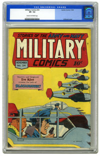 Military Comics #34 (Quality, 1944) CGC VF- 7.5 Cream to off-white pages. Al Bryant cover. Overstreet 2006 VF 8.0 value...
