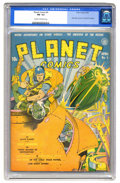 Golden Age (1938-1955):Superhero, Planet Comics #4 (Fiction House, 1940) CGC FN- 5.5 Cream tooff-white pages. Gerber credits this issue's cover to Charles Su...