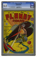 Golden Age (1938-1955):Science Fiction, Planet Comics #7 (Fiction House, 1940) CGC VF- 7.5 Cream tooff-white pages. Fiction House launched the premier science fict...