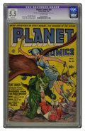 Golden Age (1938-1955):Science Fiction, Planet Comics #24 (Fiction House, 1943) CGC Apparent FN- 5.5 Slight(P) Off-white pages. Dan Zolnerowich cover. Graham Ingel...