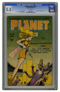Golden Age (1938-1955):Science Fiction, Planet Comics #38 (Fiction House, 1945) CGC FN- 5.5 White pages.First Mysta of the Moon cover. Murphy Anderson and Lily Ren...