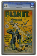 Golden Age (1938-1955):Science Fiction, Planet Comics #54 (Fiction House, 1948) CGC FN/VF 7.0 Off-white pages. Origin of Futura retold. Matt Baker, George Evans, an...