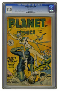 Planet Comics #54 (Fiction House, 1948) CGC FN/VF 7.0 Off-white pages. Origin of Futura retold. Matt Baker, George Evans...