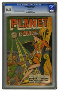 Golden Age (1938-1955):Science Fiction, Planet Comics #59 (Fiction House, 1949) CGC FN+ 6.5 Off-whitepages. Matt Baker, George Evans, and Graham Ingels art. Overst...